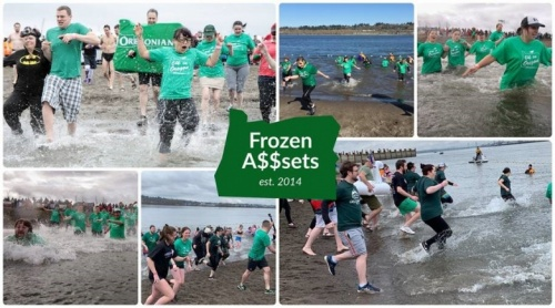 Frozen Assets Oregonians Polar Plunge Team Collage