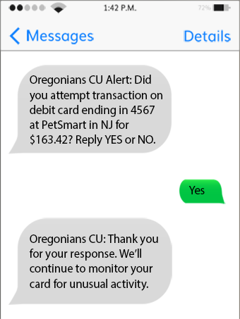 Text Alerts Sample - Yes