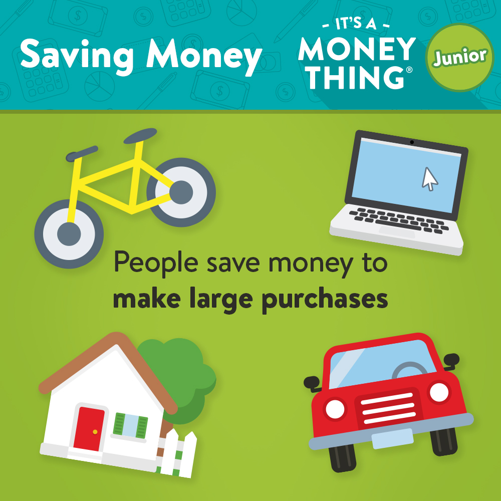 Saving Money IAMT - People save money to make large purchases